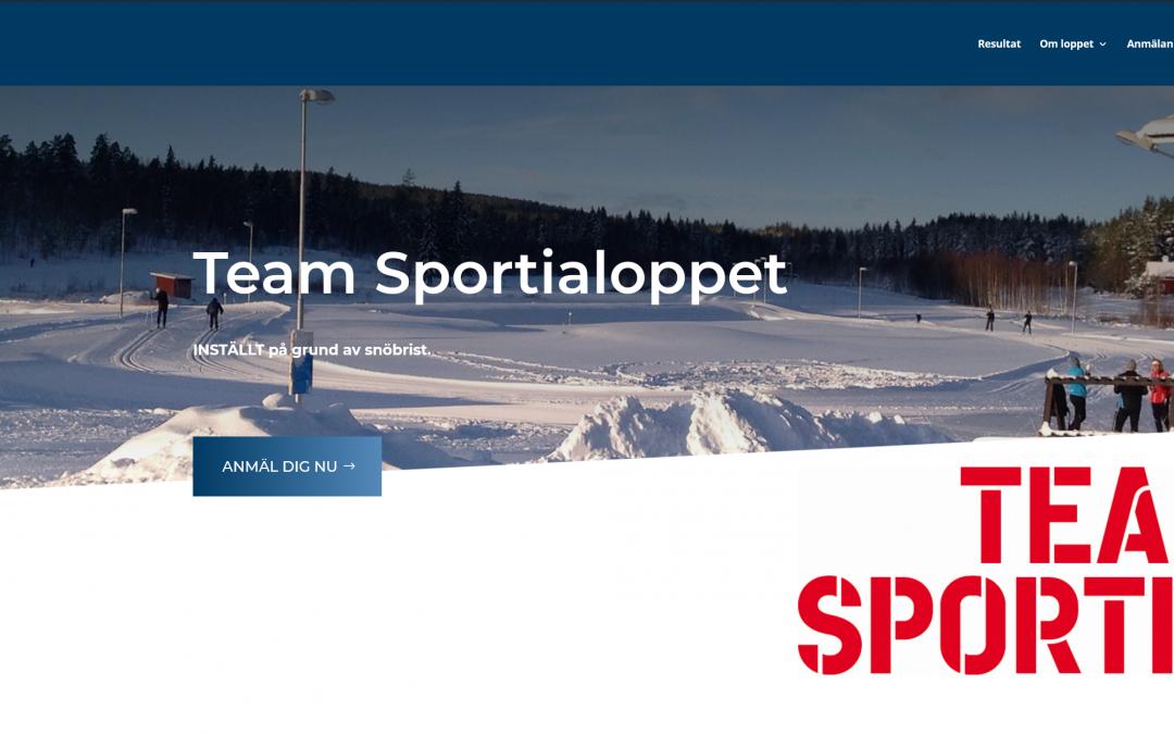 Team Sportialoppet inställt